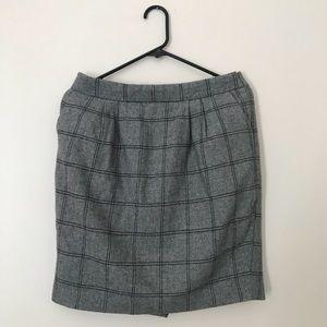 Forever 21 plaid wool/knit skirt